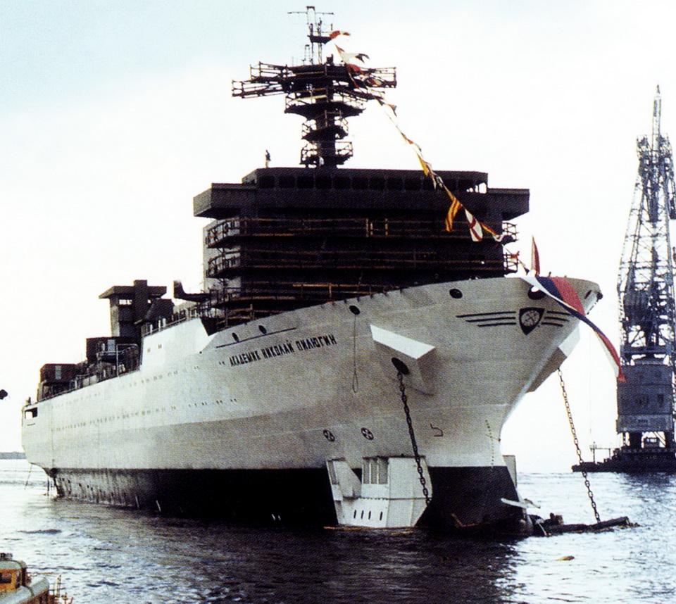 """El buque """"Akademik"""", el día de su botadura"""