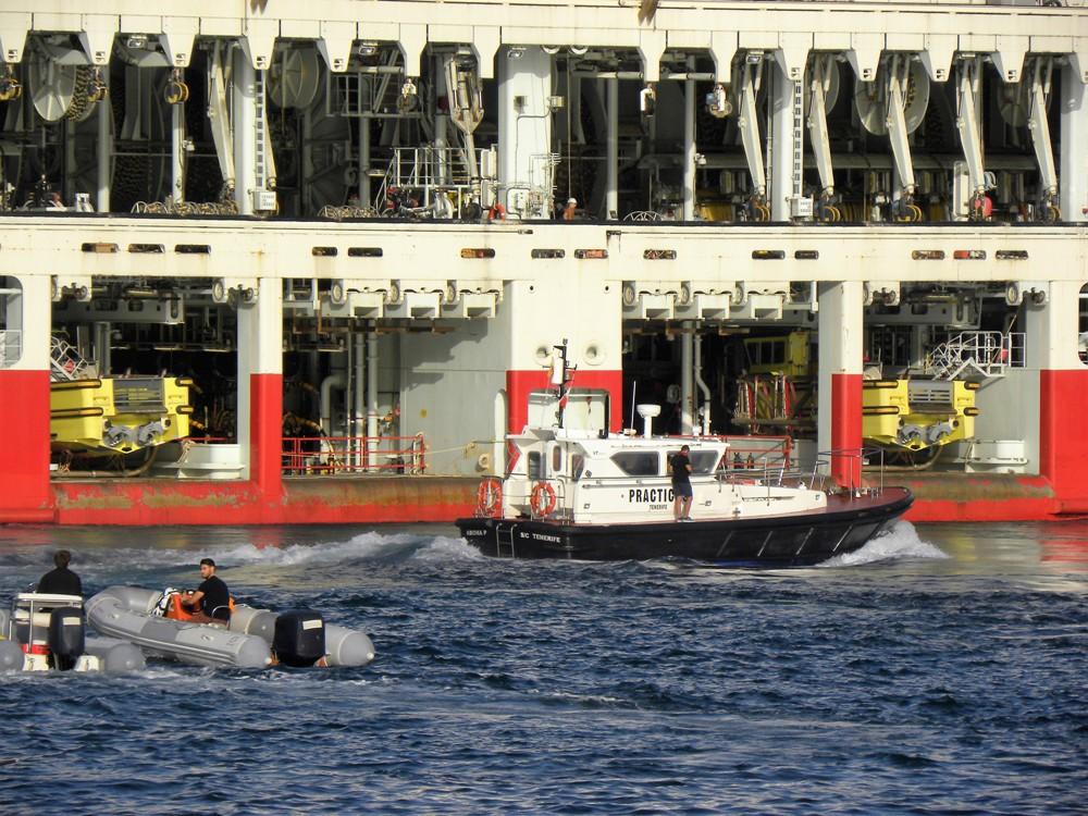 """Detalle de la popa del buque """"Ramform Atlas"""""""