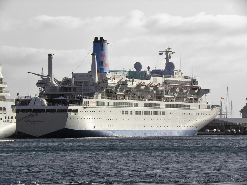 """El buque """"Thomson Spirit"""", en su escala de ayer"""