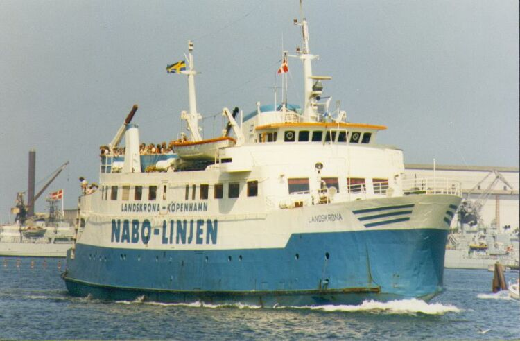 """En su etapa sueca, navegando con el nombre de """"Landskrona"""""""