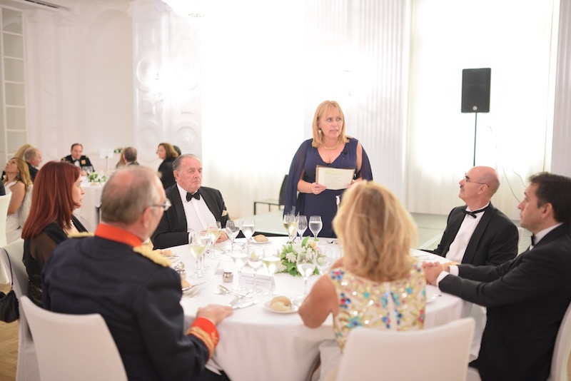 La decana del Cuerpo Consular y cónsul de Hungría en Canarias, Nóra Henrietta Hermann-Boér, en su intervención