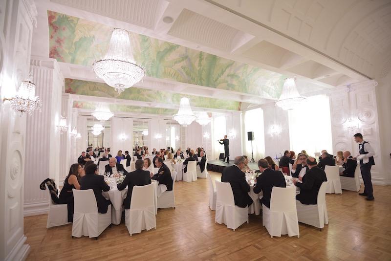 Panorámica del salón Plataneras, donde se celebró la cena de gala
