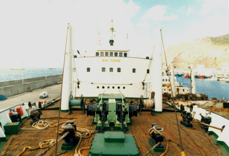 "Fachada de la superestructura del buque pesquero ""Mar Caribe"""
