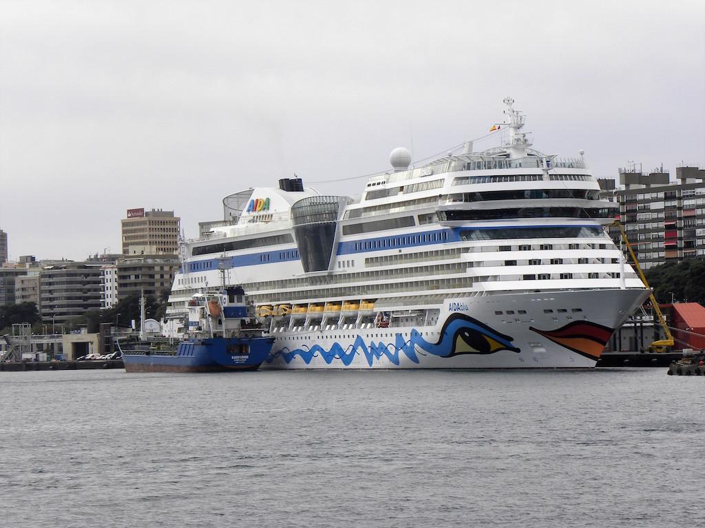 """El buque """"AIDAblu"""", en su habitual rotación semanal hasta abril de 2017"""