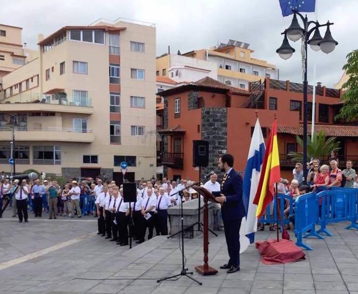 El alcalde de El Puerto de la Cruz, Lope Afonso, en su intervención