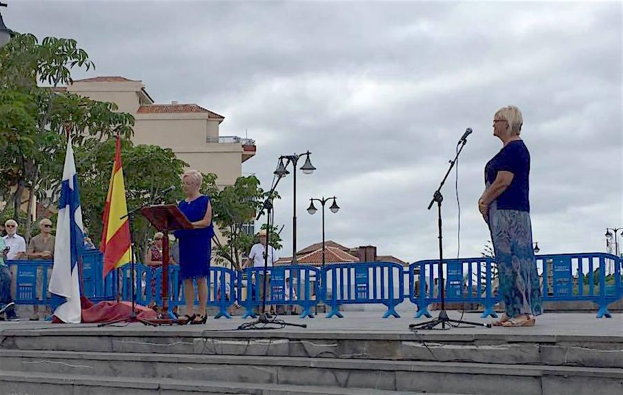 Marketta Kuru, presidenta de Club Finlandia en El Puerto de la Cruz, en su intervención