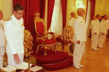 El almirante Salvador Delgado Moreno, en la jura de su cargo de ALMART (2012)