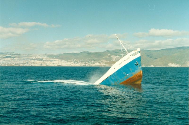"""Última imagen del buque """"Mireya G. Masiques"""""""