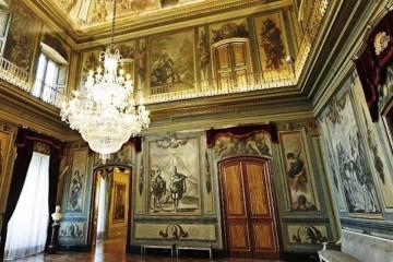Sala de visitas del Palacio Moja, en Barcelona