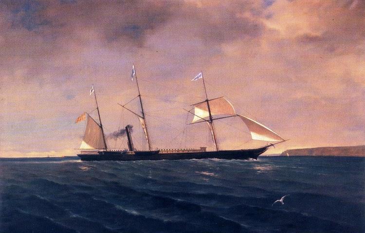 """El vapor """"General Armero"""" enarboló en 1850 la contraseña de Antonio López"""