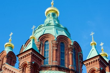 Cúpulas de la catedral ortodoxa de Uspenski