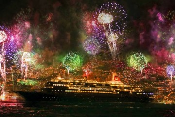 """El buque """"Boudicca"""", entre los diez cruceros de turismo que asistieron al Fin de Año en Funchal"""