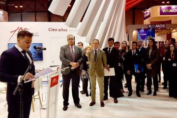 Mario Quero Gil, consejero director general de Trasmediterránea, en su intervención