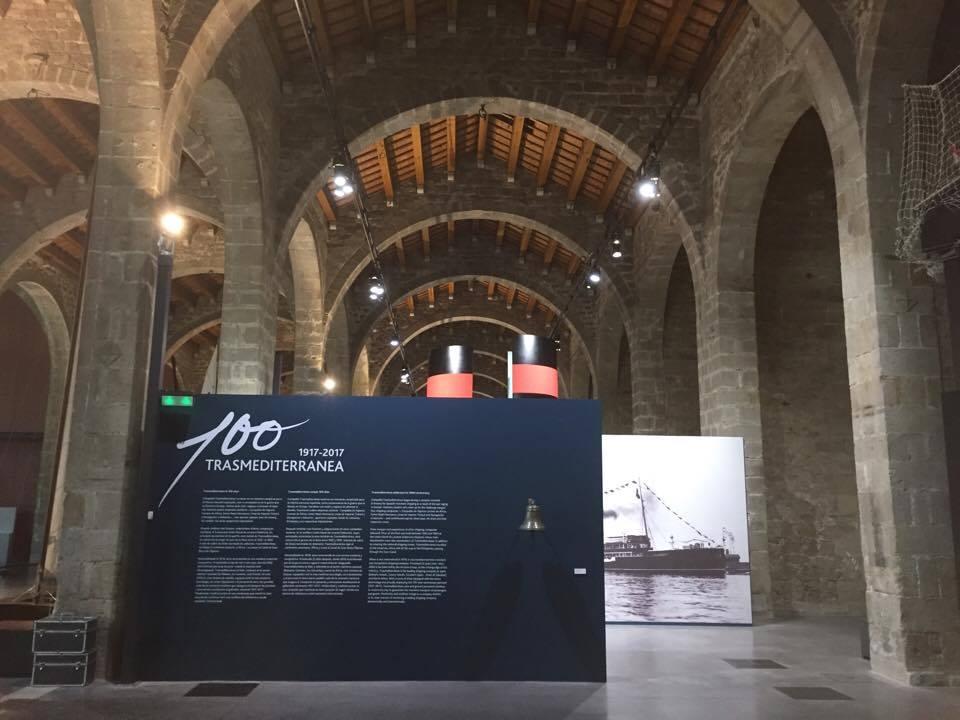 La exposición del Centenario de Trasmediterránea se encuentra expuesta en el Museu Maritim de Barcelona