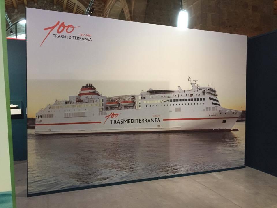 """Fotografía de gran tamaño del buque """"Sorolla"""""""