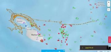 """Esta es la trayectoria de los rumbos seguidos por el catamarán """"Volcán de Teno"""""""