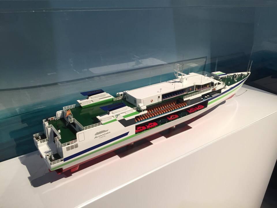 """Maqueta del fast ferry monocasco """"Alcántara"""""""