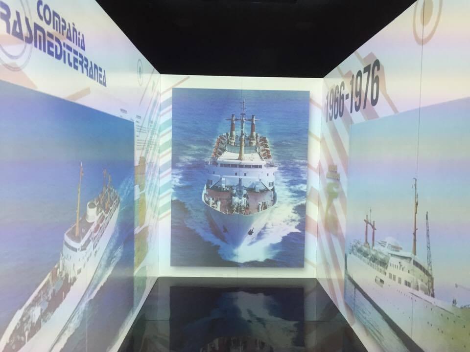 """El recorrido finaliza en un """"cubo"""" en el que se proyecta un audiovisual del centenario"""