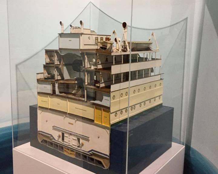 """Sección del buque """"Infanta Beatriz"""", luego """"Ciudad de Sevilla"""""""