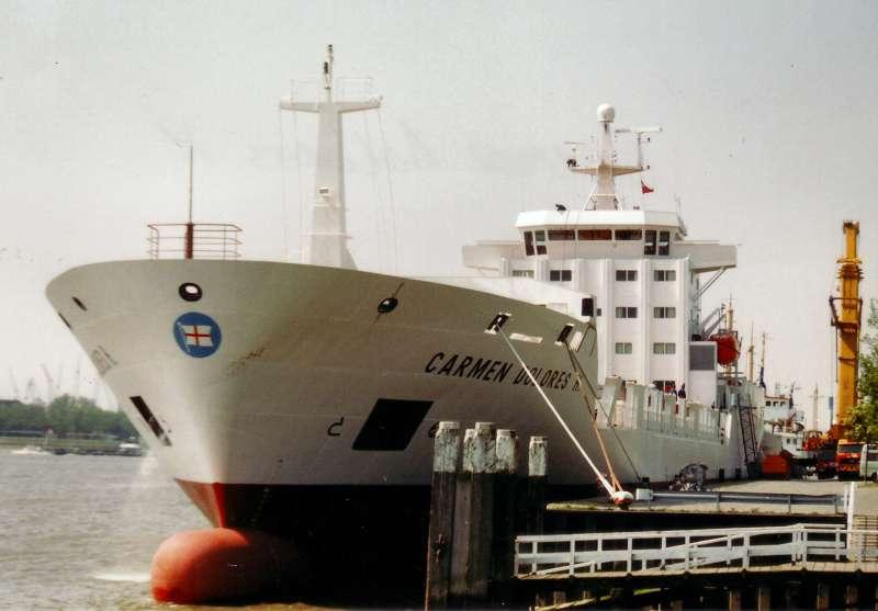 """El buque """"Carmen Dolores H"""", en su primera etapa con Naviera Pinillos"""