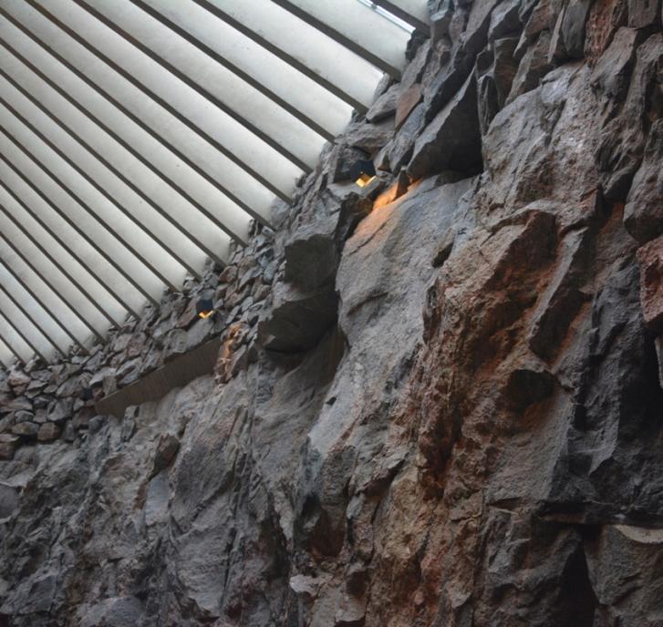 La magnífica acústica de Temppeliaukio se debe a la rugosidad de la piedra