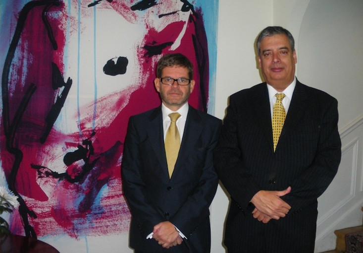 Markku Keinänen, recién nombrado embajador de Finlandia en España y quien suscribe, entonces cónsul de Finlandia en Santa Cruz de Tenerife