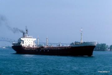 """El buque asfaltero """"Bailén"""", en aguas de EE.UU."""