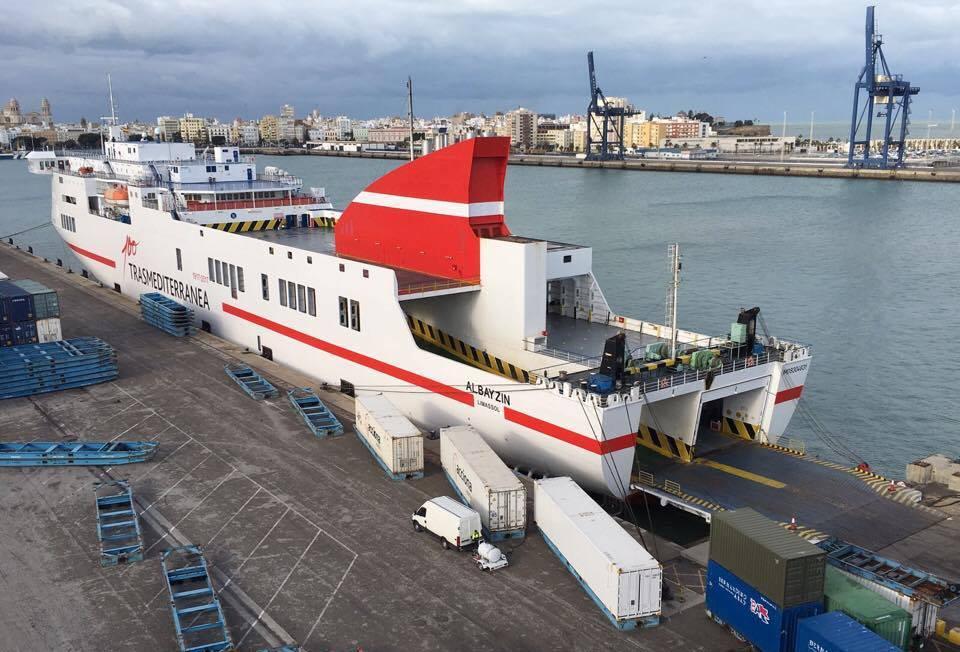 """El buque """"Albayzin"""", esta mañana, atracado en el puerto de Cádiz"""