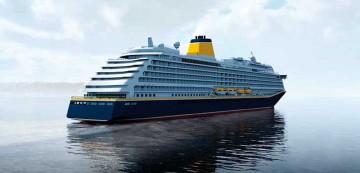 Imagen exterior del nuevo buque de Saga Cruises