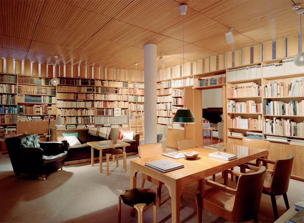 Alvar Aalto. Biblioteca de Villa Mairea