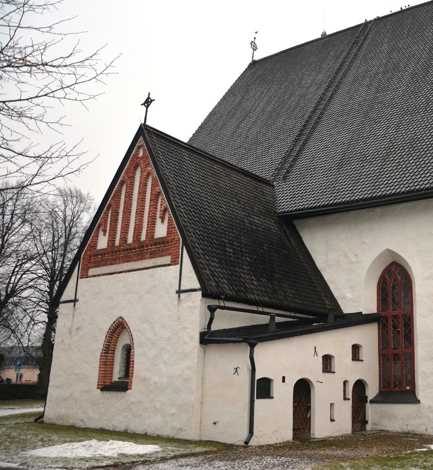 Exterior de la sacristía de la catedral de Porvoo