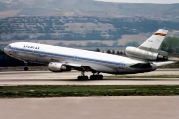 Imagen del avión Douglas DC-10 de Spantax, que sufriría un grave accidente en Málaga