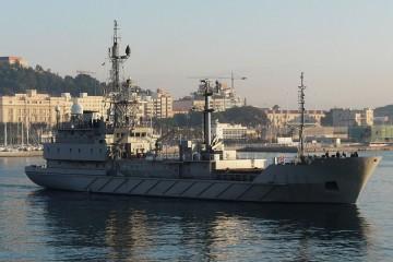 """Estampa marinera del buque de inteligencia """"Alerta"""" (A-111)"""