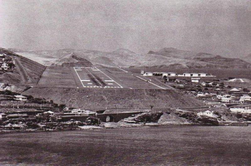 Aspecto de la primera etapa del aeropuerto de Madeira