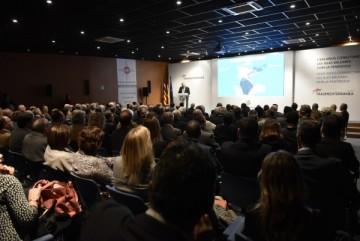 El salón de actos de la Cámara de Comercio de Palma registró un lleno absoluto