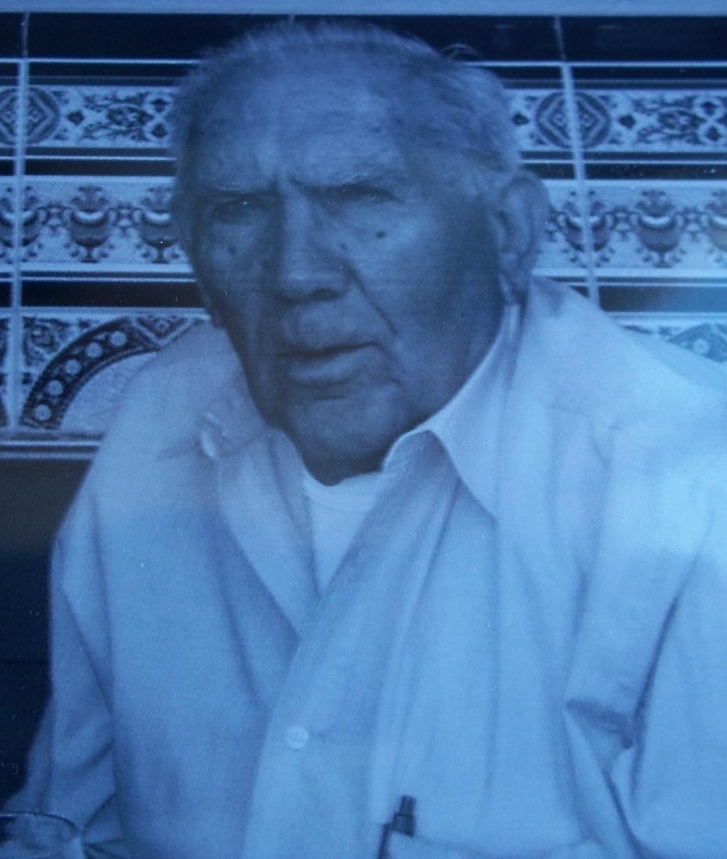 Otilio Padrón Jiménez, poco antes de su fallecimiento