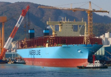 """Esta es la estampa marinera del buque """"Madrid Maersk"""""""
