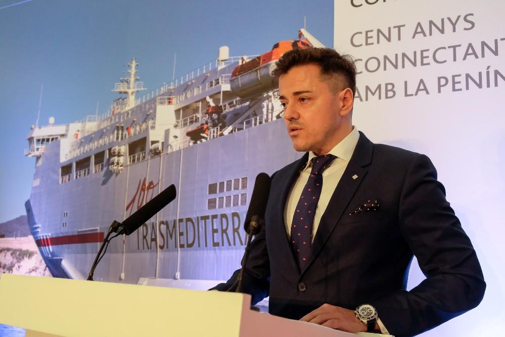 Mario Quero Gil, consejero-director general de Trasmediterránea, en su intervención