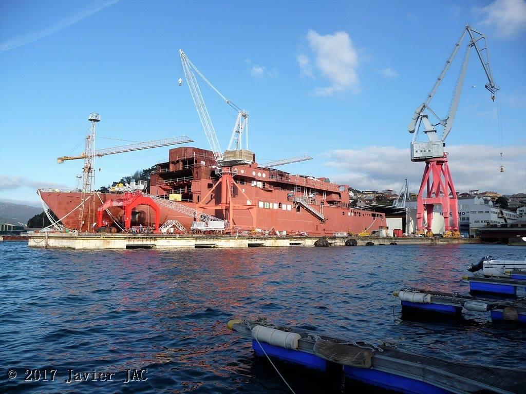 La terminación del buque alivia la situación del astillero vigués