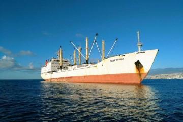 """El buque """"Bosfor Vostochny"""", ex """"Klajpedskij Bereg"""", fondeado en Santa Cruz de Tenerife"""