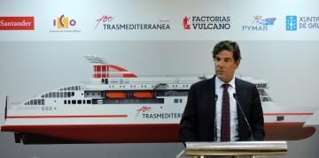 Jorge Vega-Penichet, presidente de Trasmediterránea, en su intervención