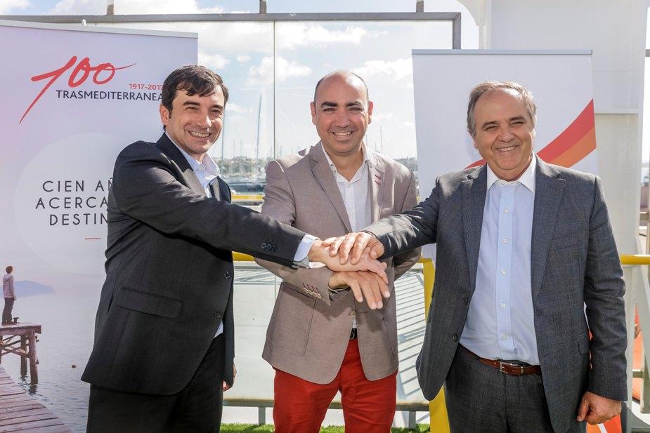 Miguel Pardo, Juanjo Talens y Antonio Mercant, en la presentación del Torneo