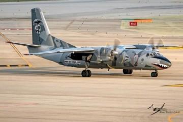 Esta es la llamativa librea del avión An-26 de Bright Aviation Services