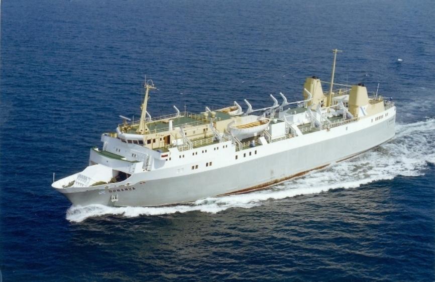 """El ferry """"Bonanza"""", gemelo del """"Buenavista"""", cruzando el canal de la Mancha"""