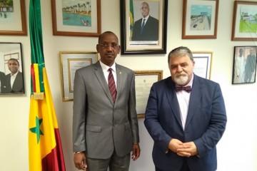 Mamadou Sow, embajador de Senegal en España y Antonio Padrón Santiago, embajador marítimo de la OMI