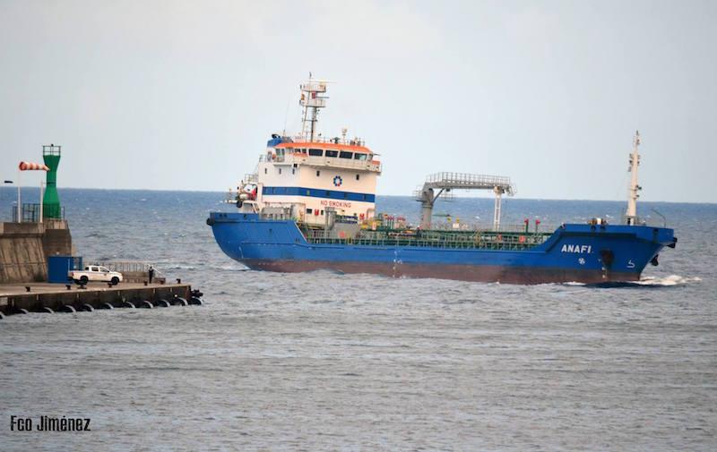"""El petrolero """"Anafi"""" está fletado al servicio de CEPSA"""