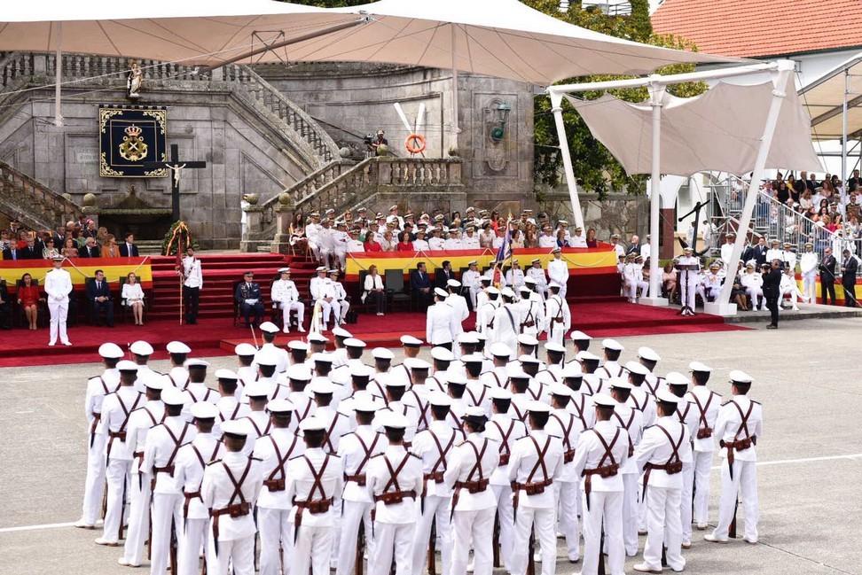 Acto central en la Escuela Naval Militar