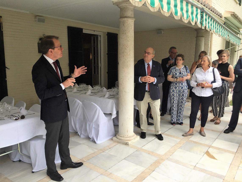 El embajador Tanzi-Albi agradeció la ayuda y la colaboración prestada