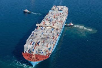 """El buque """"Madrid Maersk"""" realiza su primer viaje a Europa"""