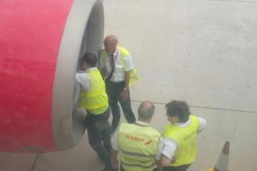 TMA's de Iberia revisan el motor afectado